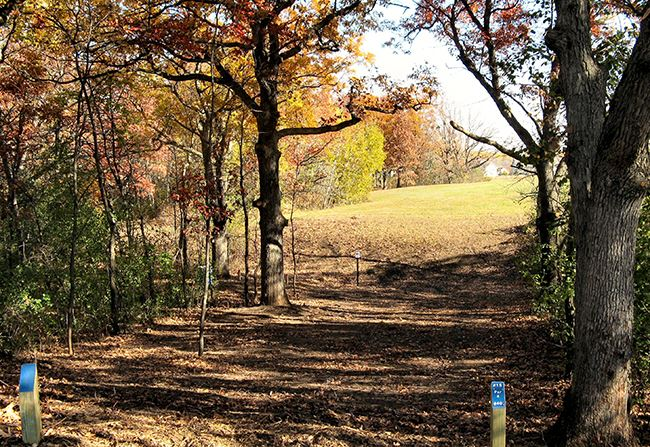 Kenwood Trial Disk Golf Course 15th tee