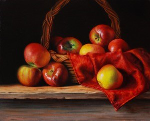 Flemish oil painting of fruit