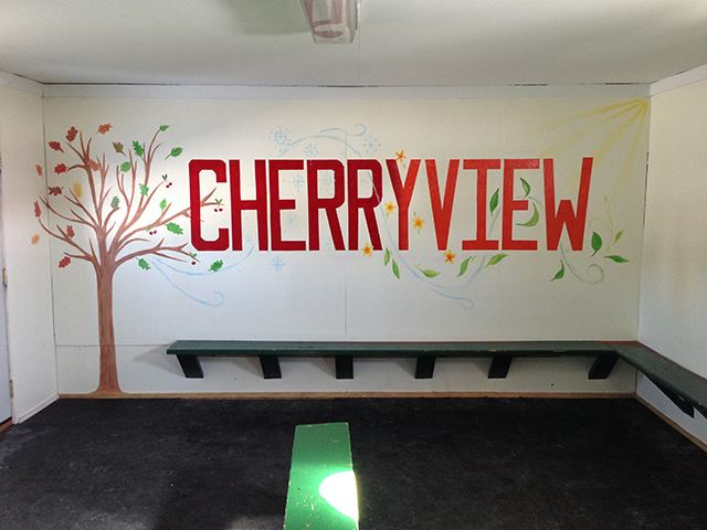 Cherryview Park warming house mural