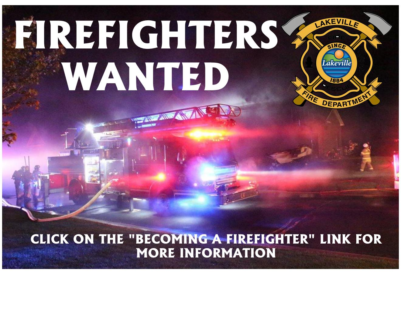 Firefighters Wanted
