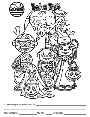 Halloween Coloring Contest Option 1