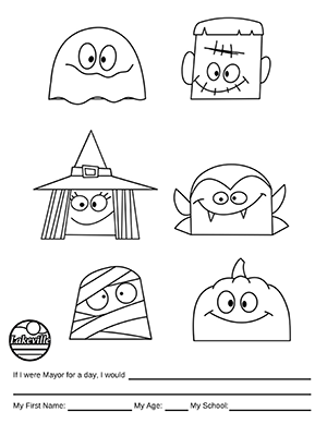 Halloween Coloring Contest Option 4