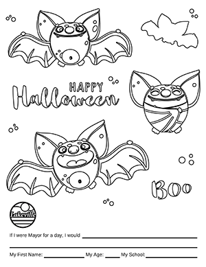 Halloween Coloring Contest Option 2