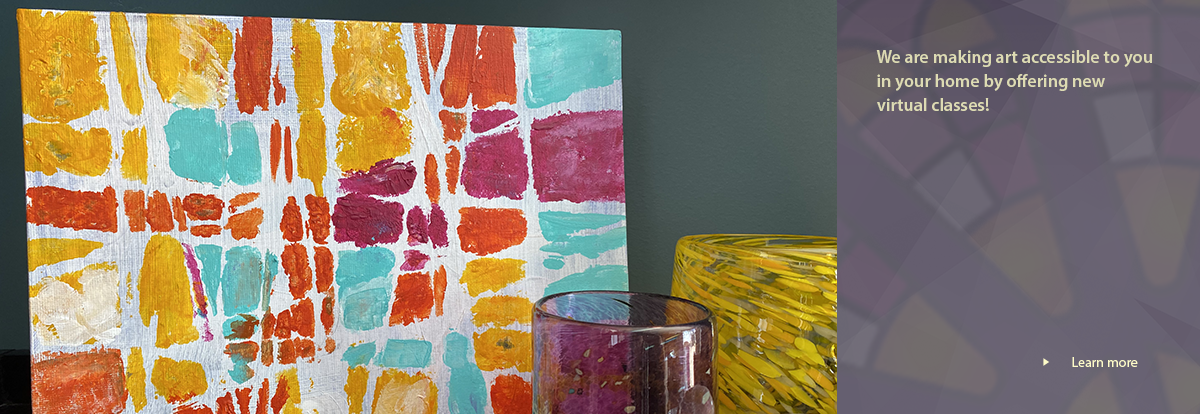 colorful painting sitting on a table