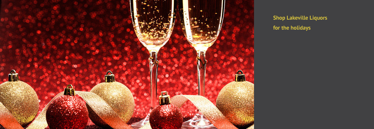 Champagne glasses and Christmas ornaments