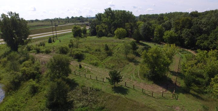 Aerial image of Ritter Farm Dog Park