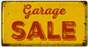 metal garage sale sign